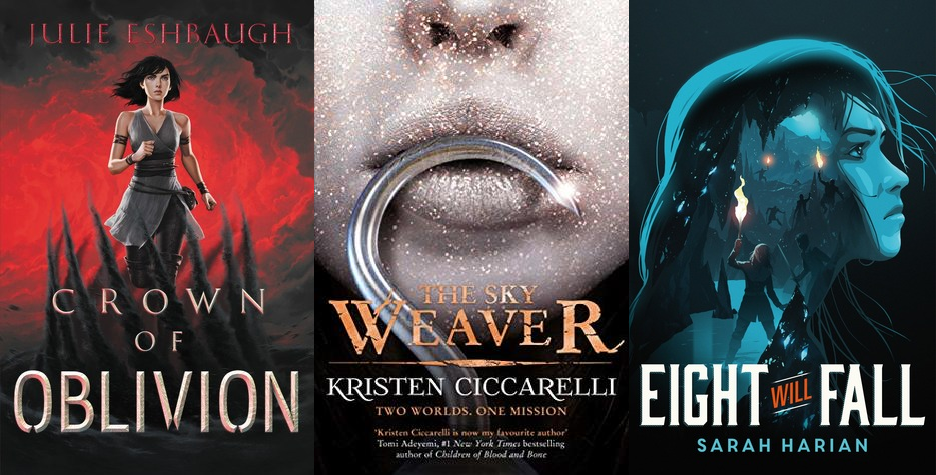 new book releases november 2019: Crown of Oblivion, The Sky Weaver, Eight Will Fall