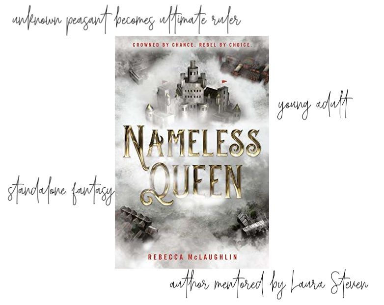 Nameless Queen information and cover - an unknown peasant becomes the ultimate ruler. YA fantasy from author mentored by Laura Steven.
